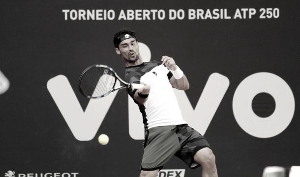 Fabio Fognini da Itália no Brasil Open 2017/ Foto: Renato Miyaji/ VAVEL Brasil