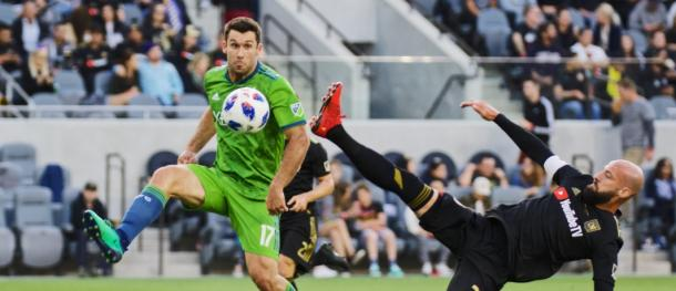 Laurent Ciman put in a great performance to get his team the win | Source: Mike Fiechtner-Seattle Sounders FC