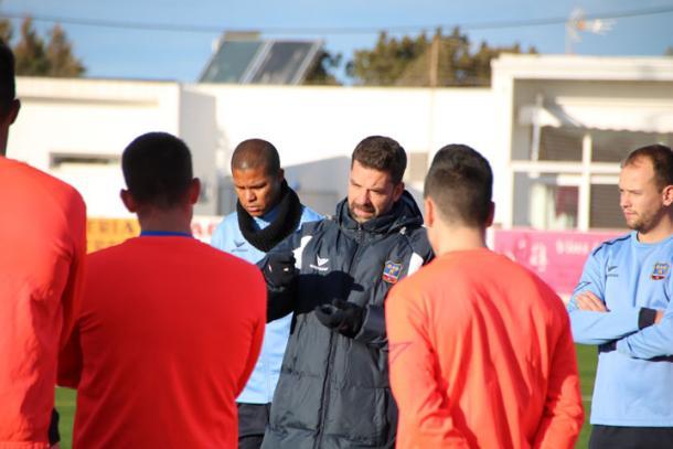 García Sanjuán, en un entrenamiento  |  Fotografía: SD Formentera