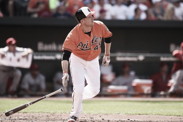 Trumbo should hit plenty of home runs at Camden Yards. Photo: Baltimore Sun