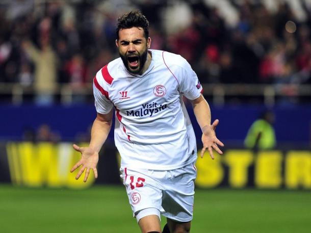 Iborra celebrando un gol con el Sevilla / Foto: Getty
