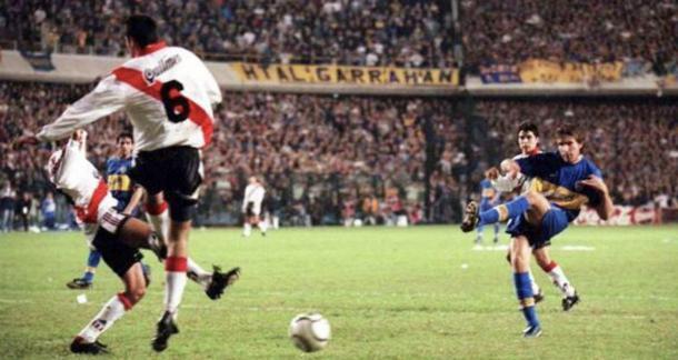 Aquel famoso gol de Palermo sin duda es el mas recordado por sus hinchas I Foto: Prensa BocaJuniors