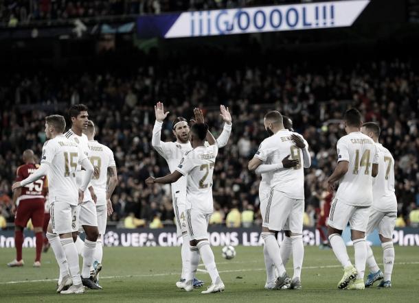 Partido contra el Galatasaray en el Santiago Bernabéu (6-0). Foto: Real Madrid