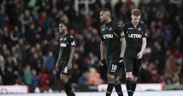 Lamento en Swansea I Foto: Premierleague.com
