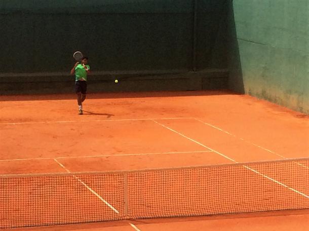 Frederico Ferreira Silva practicing today. (Pedro Cunha / VAVEL USA)