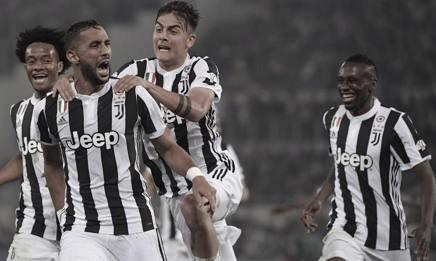 Benatia festejando el primer gol del partido con Dybala, Cuadrado y Matuidi I Foto: legaseriea.it