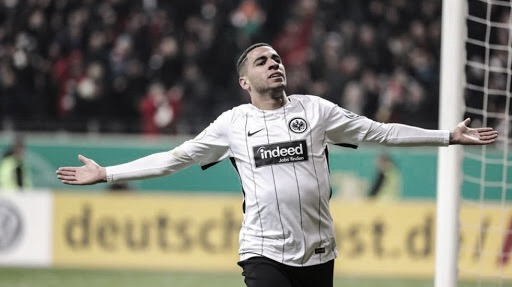 Mascarell festejando un gol en Alemania I