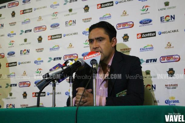 Omar Ramírez, el entrenador de Potros en conferencia de prensa, al termino del encuentro