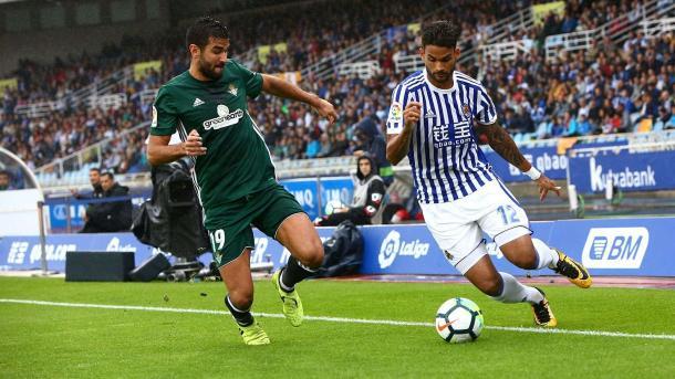 Willian José en el Real Sociedad - Betis. Foto: Real Sociedad