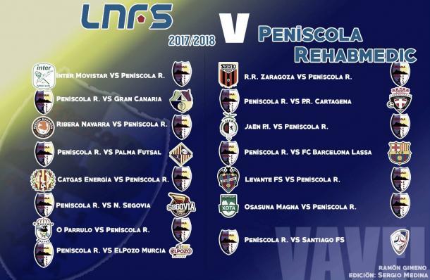 Calendario completo de Peñíscola