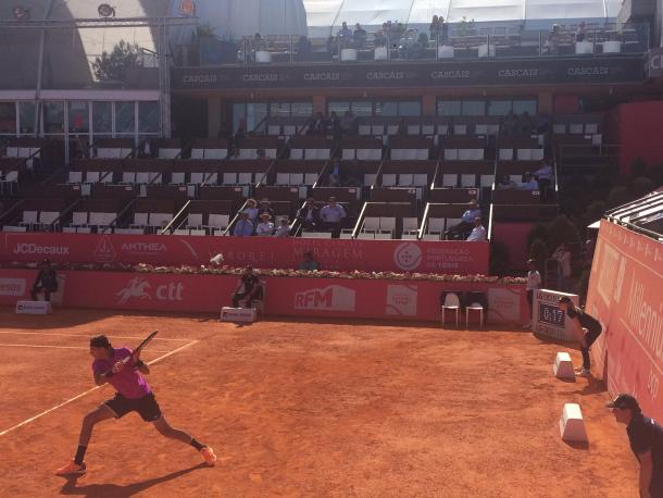 Juan Martin del Potro during his first round match today. (Pedro Cunha /VAVEL USA)