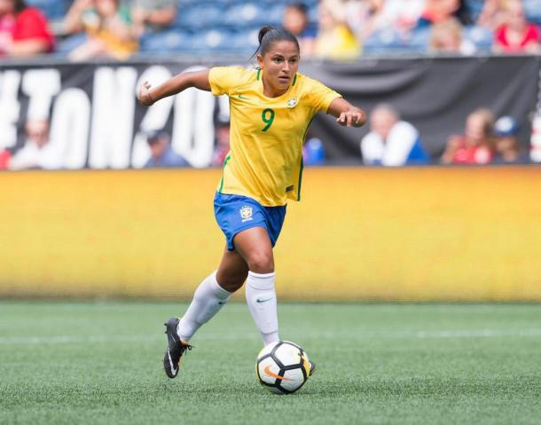 After missing out in 2015, Debinha is poised ot have a breakout tournament | source: nccourage.com