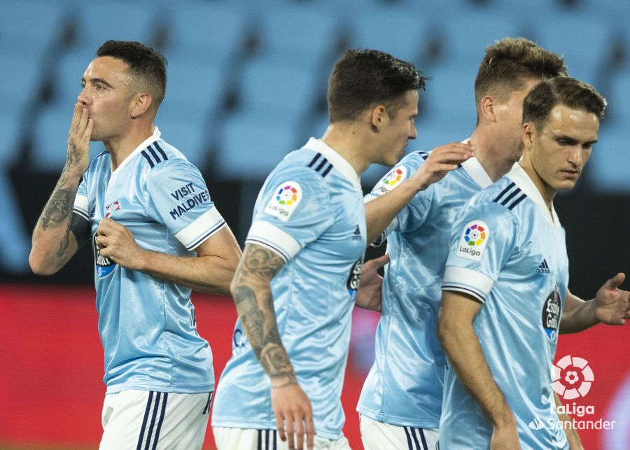 Iago Aspas celebra el 1-1 anotado de penalti | Imagen: LaLiga