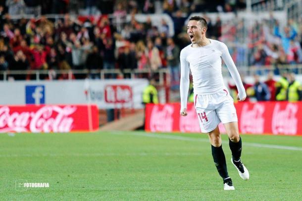Iago Aspas celebra un gol con rabia. Foto: Twitter @aspas10