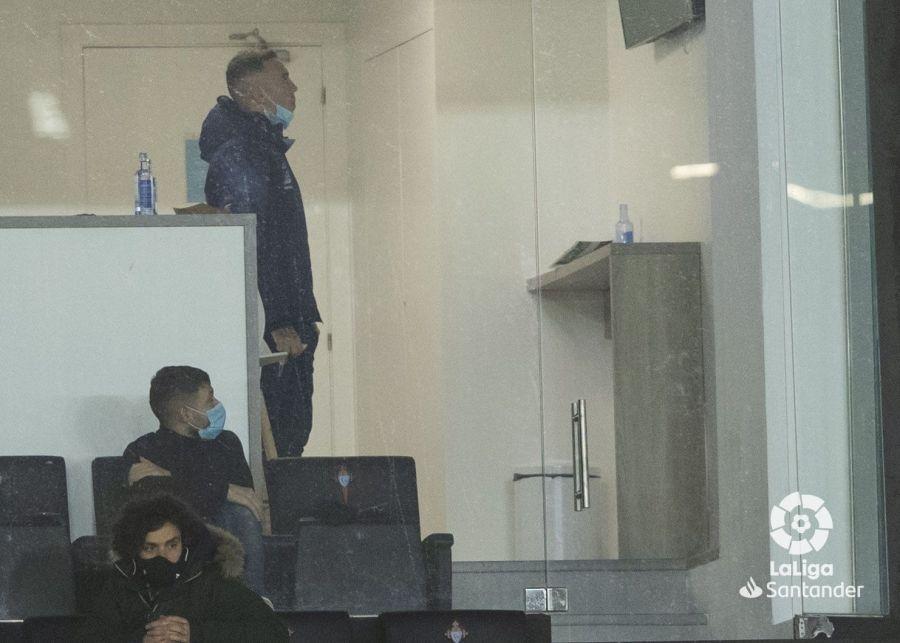 Iago Aspas presencia el partido desde el palco | Imagen: LaLiga