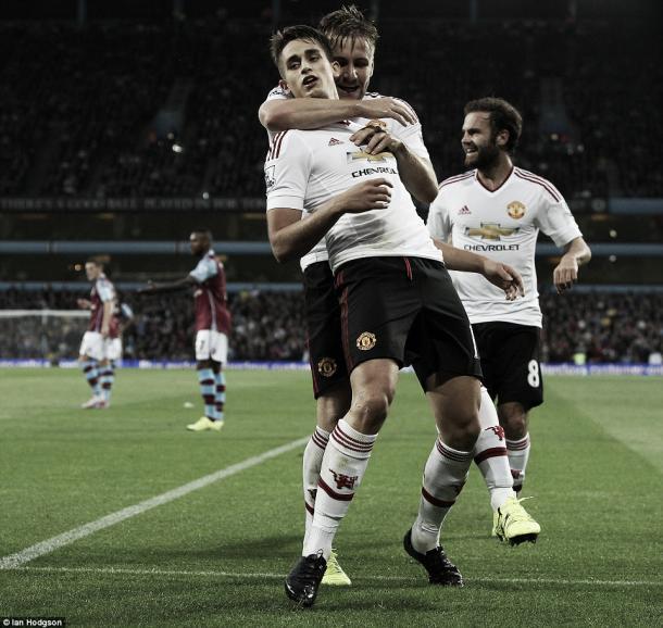 Above: Adnan Januzaj celebrating his goal in Manchester Unted's 1-0 win over Aston Villa | Photo: Ian Hodgson