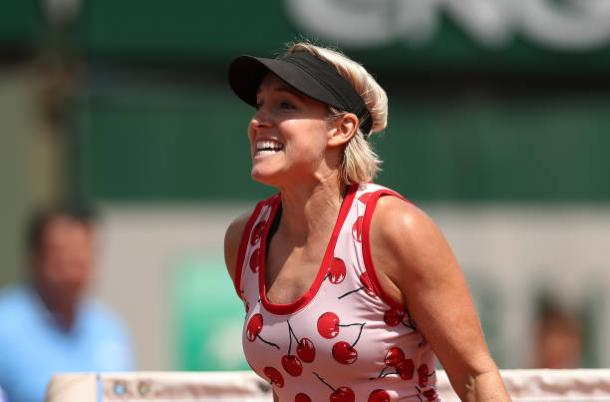 Bethanie Mattek-Sands celebrates after her second round win over Petra Kvitova at the French Open (Getty/Ian MacNicol)