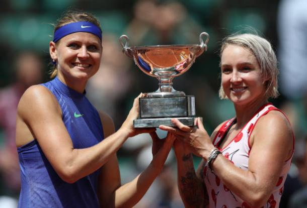 Mattek-Sands, alongside Lucie Safarova, won the French Open doubles title last month (Getty/Ian MacNicol)