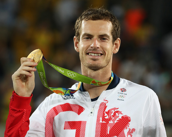 Andy Murray with his second Olympic gold medal (Image: Ian MacNicol)