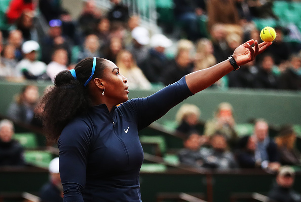 The world number one put on an impressive serving display in her opening round match (Getty/Ian MacNicol)