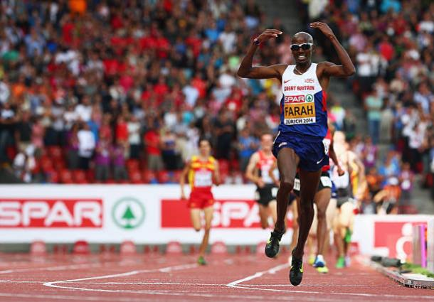 Farah won two gold medals at the European Championships in Zurich three years ago (Getty/Ian Walton)