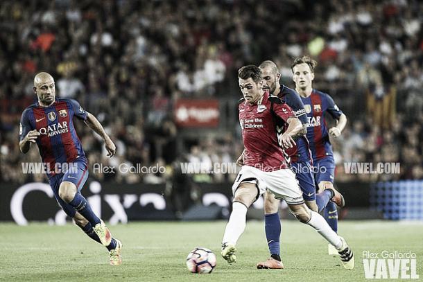 Ibai Gómez, ante el FC Barcelona. Imagen: Álex Gallardo (VAVEL)