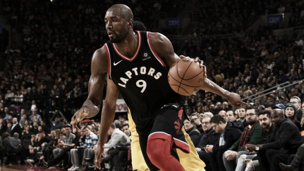 Serge Ibaka jugará los Playoffs con unos Raptors con muchas posibilidades de hacer algo grande | Foto: nba.com