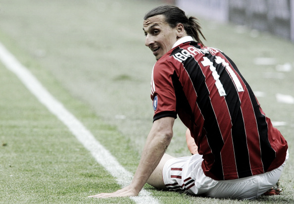 Ibrahimovic defendeu o Milan de 2010 a 2012 (Foto: Claudio Villa/Getty Images)