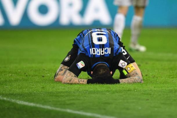 Icardi lamenta una de sus dos ocasiones más claras | Foto: Getty Images