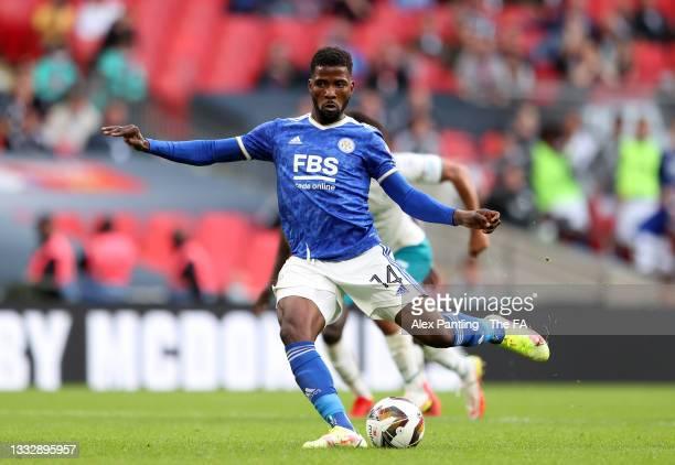 Kelechi Iheanacho may start against Napoli alongside strike partner Jamie Vardy   Credit: Alex Pantling   Getty Images