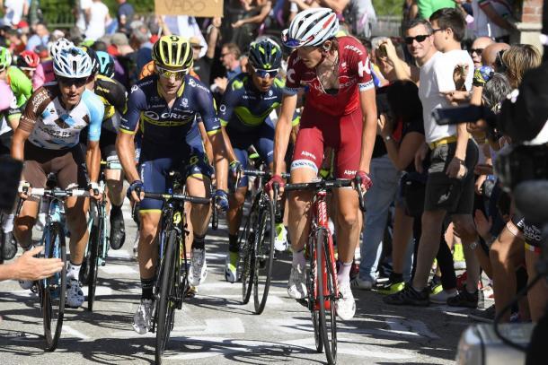 Ilnur Zakarin fue uno de los corredorees más activos en el Giro | Foto: Giro de Italia