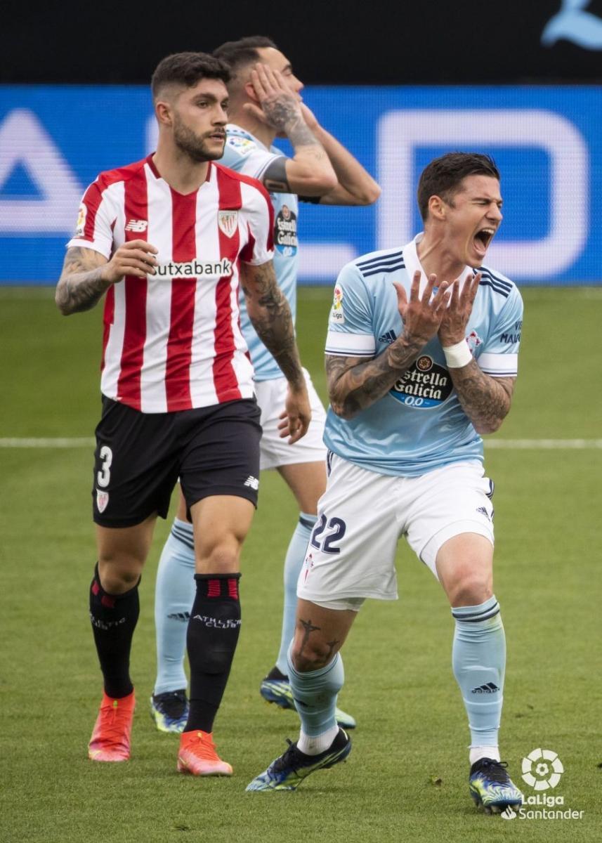 Santi Mina lamenta su ocasión fallida | Fuente: La Liga
