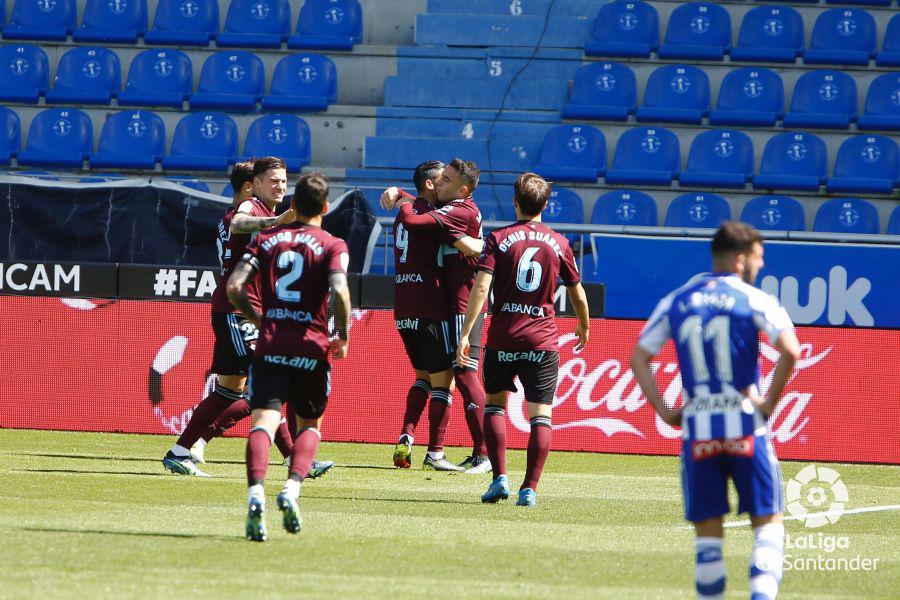 Celebración de gol en el último partido | Fuente: LaLiga