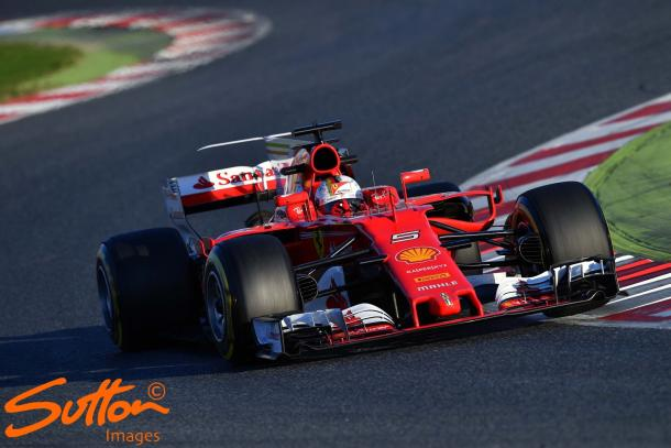 Sebastian Vettel's pace caught the eye. Have Ferrari really closed the gap to Mercedes? (Image Credit: Sutton Images)