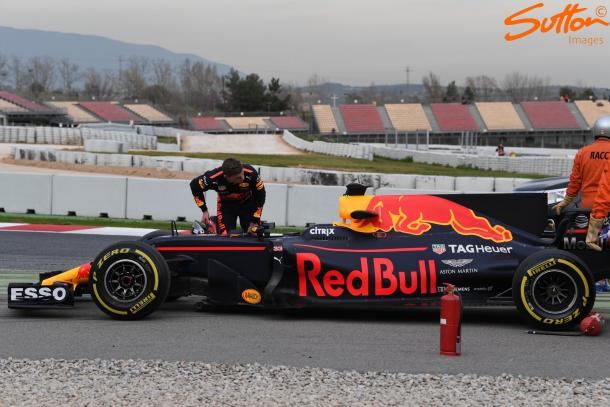 Max Verstappen racked up over 100 laps, but his race simulation was ended early after he stopped on track. (Image Credit: Sutton Images)