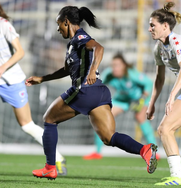 Crystal Dunn scored for the Courage in the 66th minute. Photo: www.twitter.com/thenccourage