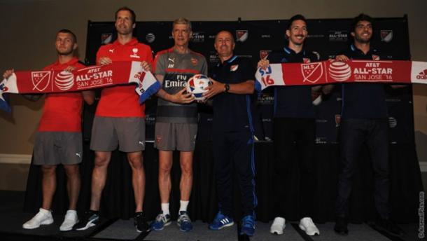 Rueda de prensa previa al MLS All-Star Game (Imagen: arsenal.com)