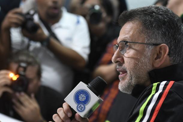 Juan Carlos Osorio en rueda de prensa