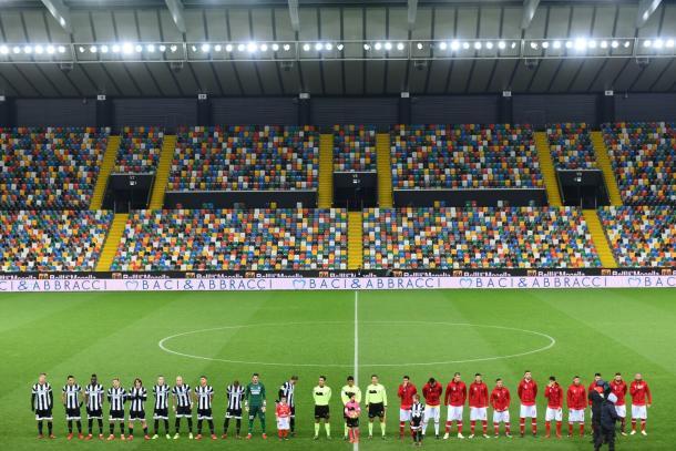 El estadio con todo un fondo vacío | Foto: Udinese
