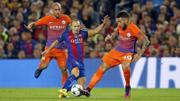 Iniesta asistió a Messi en el primer gol del argentino | Foto: FCB