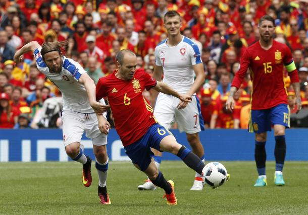 Iniesta showcased his abilities in the win over the Czech Republic.