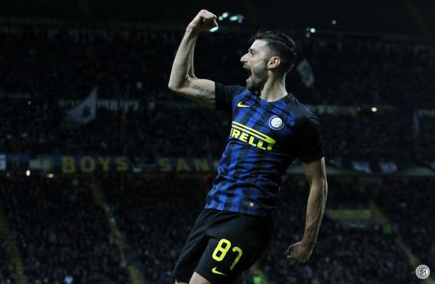 Candreva celebra el 2-0 | Foto: FC Inter