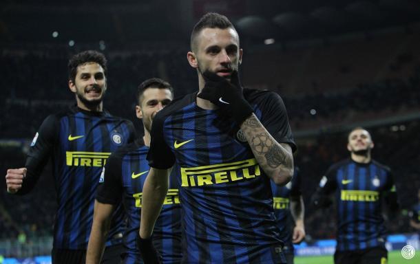 Marcelo Brozović celebra su gol ante la Fiorentina | Foto: FC Inter