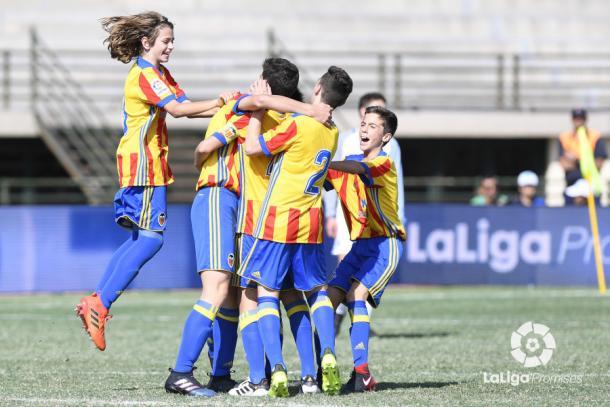 El Valencia derrotó 0-3 al Inter en fase de grupos   Fotografía: La Liga