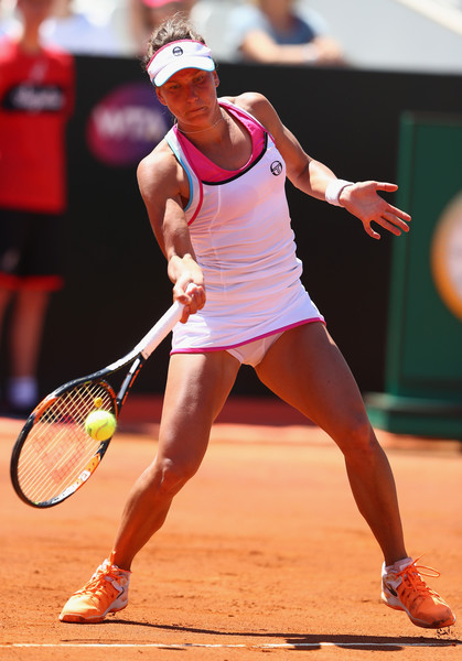 Barbora Strycova in action | Photo: Michael Steele/Getty Images Europe