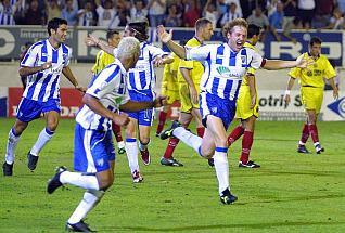 Gerardo hizo el gol de la victoria a domicilio | Foto: La Opinión de Málaga