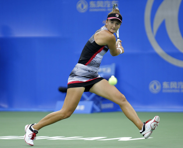 Irina-Camelia Begu in action at the 2016 Wuhan Open | Photo: Wang He/Getty Images AsiaPac