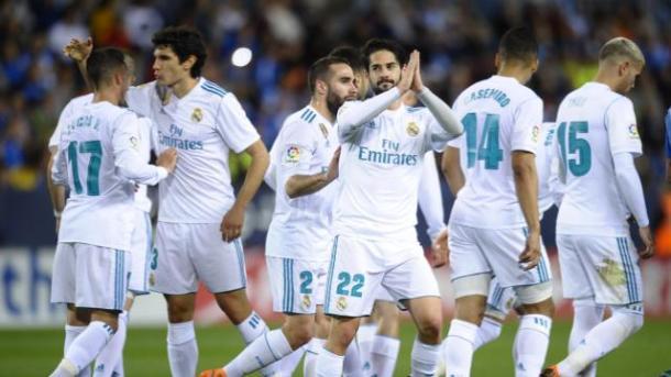 Isco pidiendo perdón en la celebración del gol | Foto: laliga.es