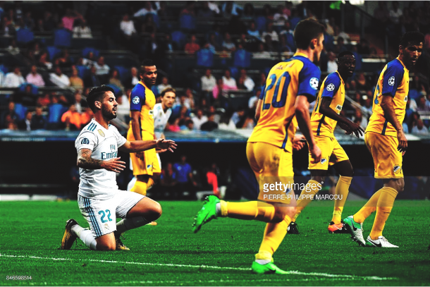 El último partido del APOEL fuera de casa, en el Santiago Bernabéu. Foto: Getty Images