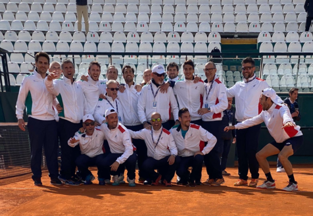 Italia, un equipo con historia en Copa Davis. Imagen: @DavisCupFinals